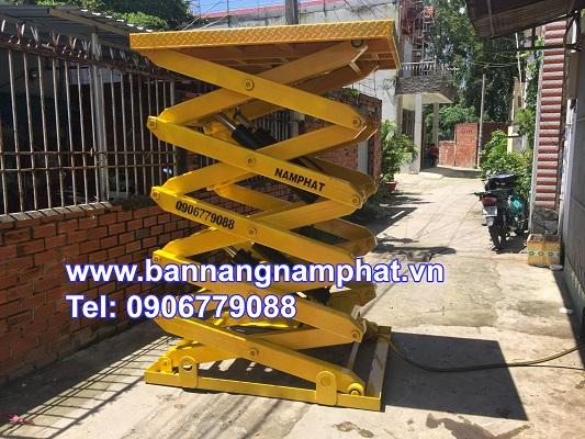 Bàn nâng thuỷ lực 1500 kg lắp tại KCN Biên Hòa