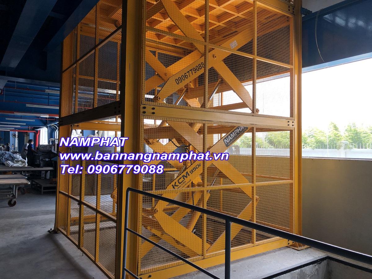Thang máy thuỷ lực 3000KG lắp tại KCN Tây Ninh