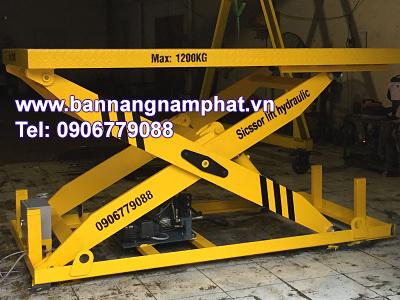 Bàn nâng thuỷ lực 1200 kg lắp tại KCN Sóng Thần III