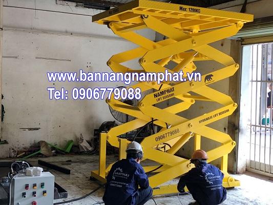 Bàn nâng thủy lực 1000KG lắp tại KCN Nam Đông Hà Quảng Trị