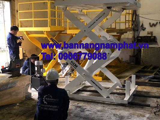 Bàn nâng thủy lực 2 ton , Cung cấp KCN Becamex Bình Phước