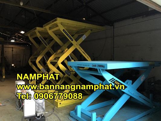 Bàn nâng thủy lực 500 KG Phú Thọ