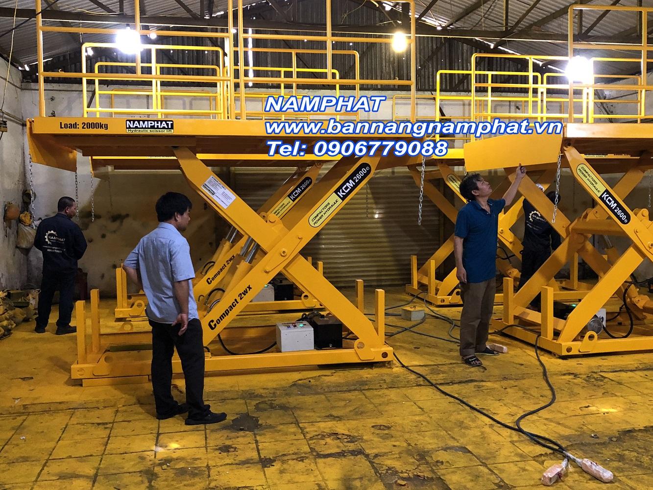 Bàn nâng thủy lực 2000KG Cung cấp cho Cty Nhật tại KCN VISIT 1
