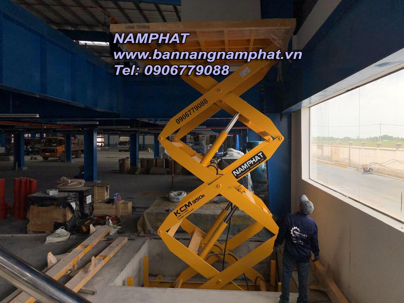 Bàn nâng thủy lực 3000 KG Lắp tại KCN Thành Thành Công,  Tây Ninh