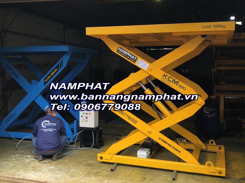 Bàn nâng thủy lực 1000 KG, Lắp tại Sân Bay Tân Sơn Nhất