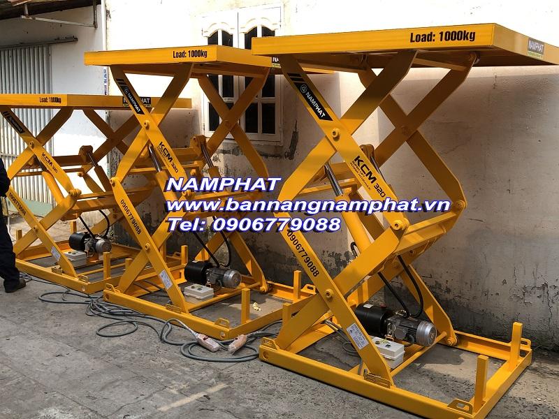 Bàn nâng thủy lực 1000 KG Lắp ở Quảng Trị